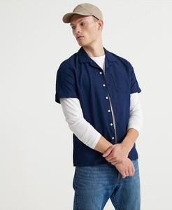 Niebieska koszula Superdry z klasycznym kołnierzykiem z długim rękawem w stylu casual