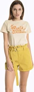 T-shirt Gate w młodzieżowym stylu z bawełny z krótkim rękawem