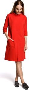 Sukienka MOE midi z okrągłym dekoltem