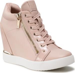 Różowe buty sportowe Aldo ze skóry ekologicznej