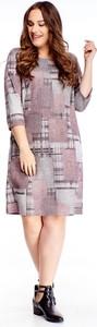 Sukienka Ptakmoda.com dla puszystych w stylu casual mini
