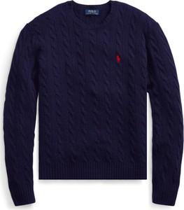 Niebieski sweter POLO RALPH LAUREN z dżerseju w stylu casual
