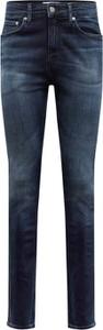 Niebieskie jeansy Calvin Klein z tkaniny