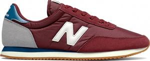 Buty sportowe New Balance w sportowym stylu z zamszu sznurowane