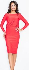 Sukienka Figl z długim rękawem midi