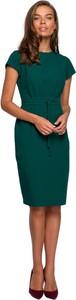 Sukienka Style z krótkim rękawem ołówkowa midi