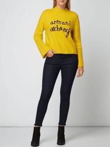 Żółty sweter Armani Jeans z wełny w stylu casual