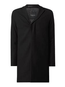 Czarny płaszcz męski Selected Homme z wełny