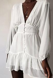 Sukienka Elegrina z długim rękawem mini