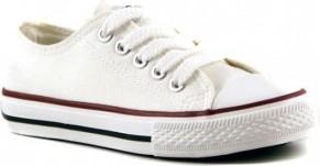 Buty testudo sznurowane z tkaniny dla dziewczynek