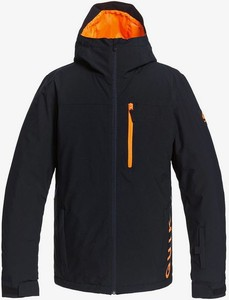 Czarna kurtka Quiksilver krótka w sportowym stylu
