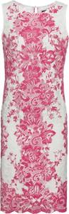 Różowa sukienka bonprix BODYFLIRT w stylu boho bez rękawów z okrągłym dekoltem