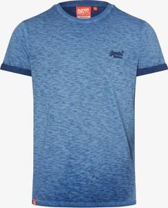 Niebieski t-shirt Superdry z bawełny