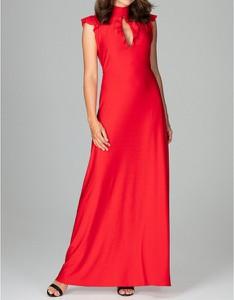 Czerwona sukienka LENITIF maxi
