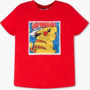 Różowa koszulka dziecięca C&A z krótkim rękawem
