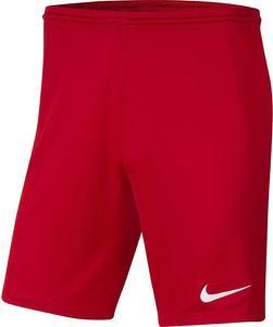 Czerwone spodenki dziecięce Nike Team