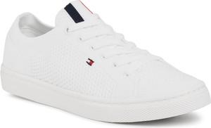 Buty sportowe eobuwie.pl z tkaniny sznurowane z płaską podeszwą