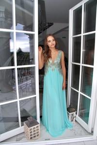 Niebieska sukienka Rokado
