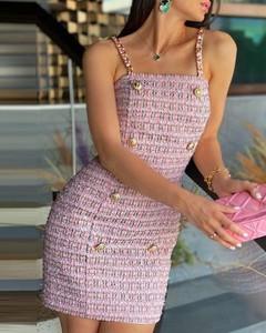Sukienka Kendallme na ramiączkach z okrągłym dekoltem dopasowana