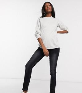 Mama Licious Mamalicious – Ciemnoniebieskie jeansy z prostymi nogawkami