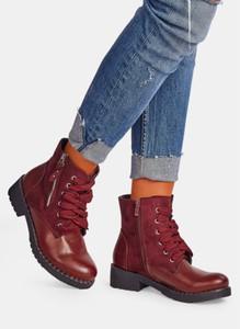 Czerwone trapery damskie DeeZee w stylu casual