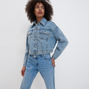 Niebieska kurtka Mohito z jeansu