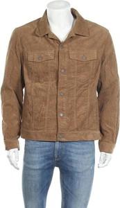 Brązowa kurtka H&m L.o.g.g. w stylu casual