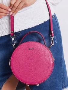 Różowa torebka Rovicky ze skóry mała na ramię