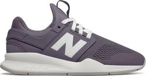 Fioletowe buty sportowe New Balance z płaską podeszwą sznurowane