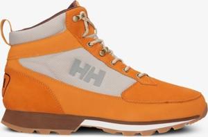 Pomarańczowe buty zimowe Helly Hansen w sportowym stylu
