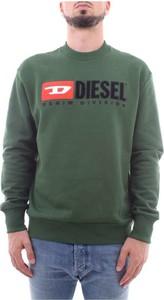 Zielona bluza Diesel w młodzieżowym stylu