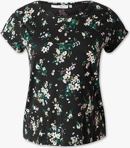 T-shirt CLOCKHOUSE w stylu boho z okrągłym dekoltem z bawełny