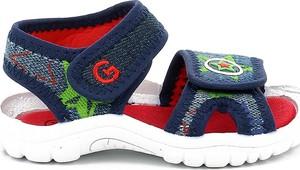 Buty dziecięce letnie Grünland dla chłopców na rzepy ze skóry