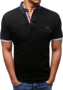 Czarna koszulka polo Dstreet w stylu casual