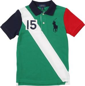 Zielona koszulka dziecięca POLO RALPH LAUREN z dżerseju