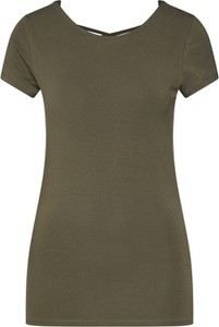Zielona bluzka Only z krótkim rękawem z okrągłym dekoltem