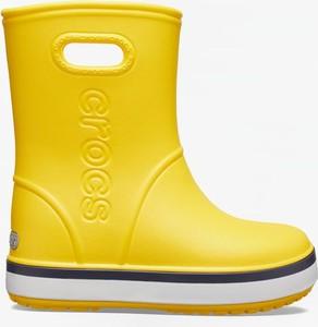 Żółte kalosze dziecięce Crocs