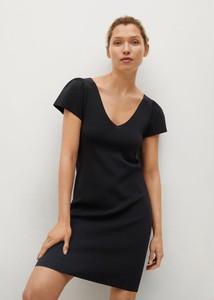 Czarna sukienka Mango mini prosta z krótkim rękawem