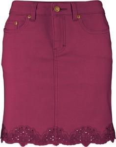 Spódnica bonprix John Baner JEANSWEAR mini z jeansu w stylu casual