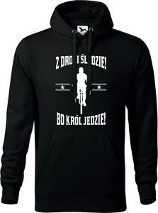 Czarna bluza TopKoszulki.pl w młodzieżowym stylu z bawełny