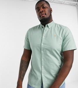 Zielona koszula Farah z krótkim rękawem