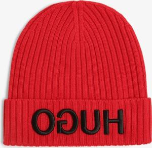 Czerwona czapka Hugo Boss