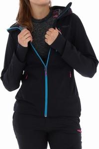 Czarna kurtka Viking z tkaniny w sportowym stylu krótka