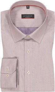 Różowa koszula Eterna z bawełny z klasycznym kołnierzykiem