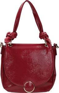 Czerwona torebka NOBO na ramię średnia matowa