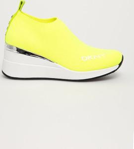 Buty sportowe DKNY w sportowym stylu ze skóry