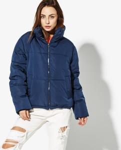 Niebieska kurtka Confront krótka w stylu casual