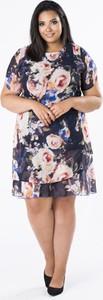 Sukienka Moda Dla Ciebie z krótkim rękawem dla puszystych