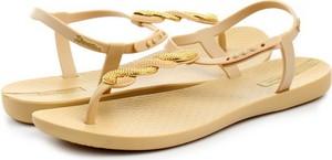 Żółte sandały Ipanema z płaską podeszwą ze skóry ekologicznej