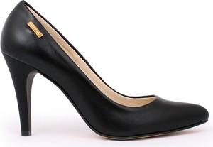 Zapato szpilki - skóra naturalna - model 035 - kolor czarny lico